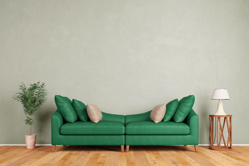 Home decorating trends - curved sofa