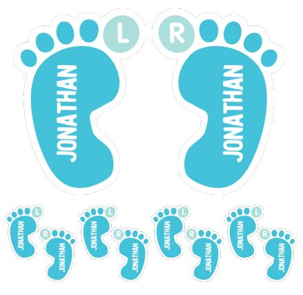 Choosing baby names - shoe labels