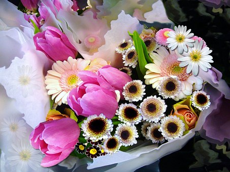Winter blues - bouquet of flowers