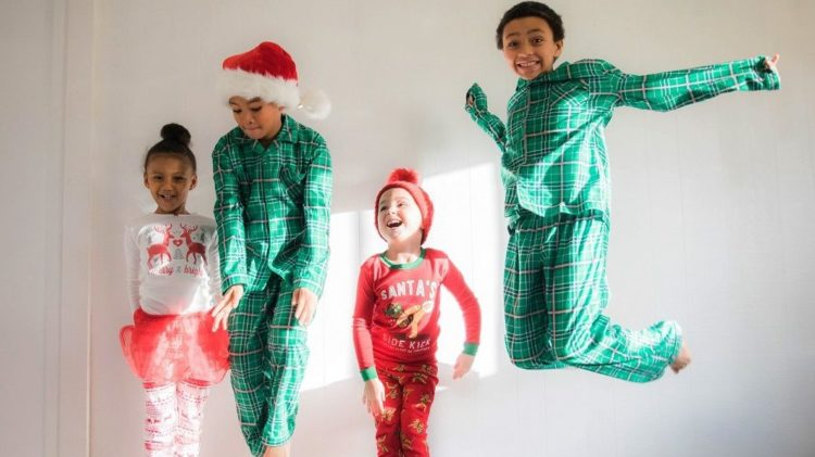 A picture of children celebrating Christmas in July
