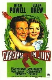 A picture of the Christmas in July film poster