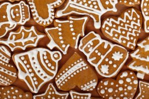 A picture of Christmas cookies