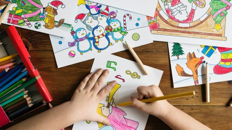 A picture showing kids' creativity seen in a drawing