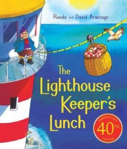 "A picture of the book ""The Lighthouse Keeper's Lunch"""
