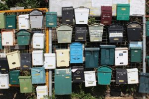 A picture of lots of letter boxes