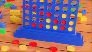 A picture of a game of Connect Four