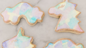 A picture of unicorn cookies