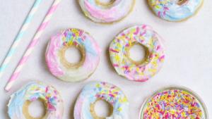 A picture of unicorn doughnuts