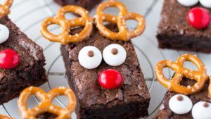 A picture of reindeer brownies
