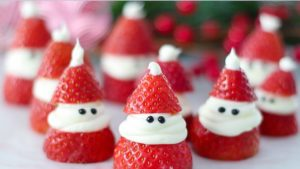 A picture of Strawberry Santas