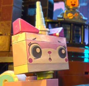 A picture of The Lego Movie character, Unikitty