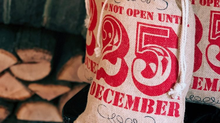 A picture of a Santa sack for a sustainable Christmas