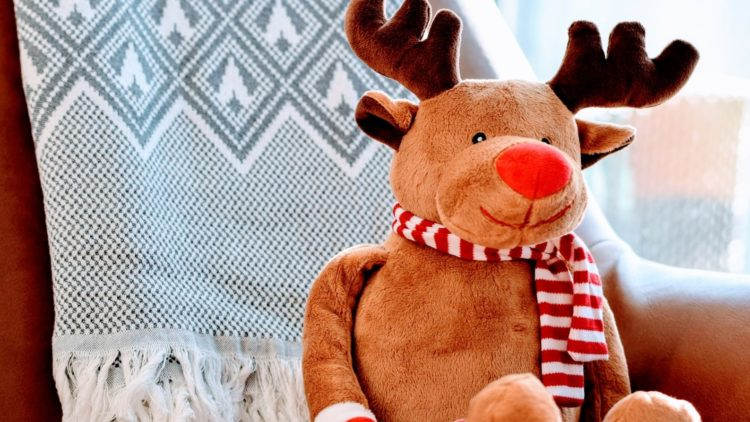 A picture of a reindeer for Christmas games