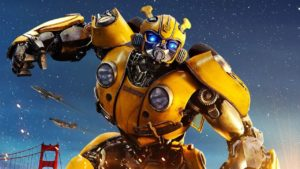 A picture of the Transformers character Bumblebee