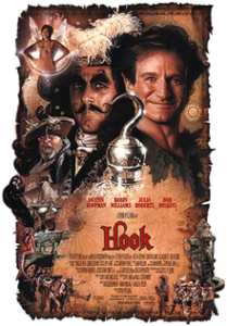 A picture of the film poster for Hook