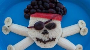 A picture of a snack that looks like a Jolly Roger