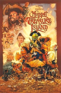 A picture of the movie poster for Muppet Treasure Island