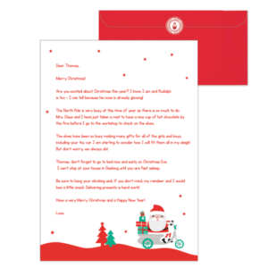 A picture of a Stuck On You Christmas letter