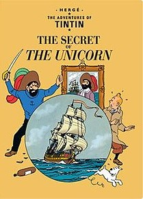 A picture of the Tintin book The Secret of the Unicorn