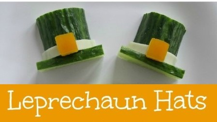 A picture of cucumber leprechaun hats