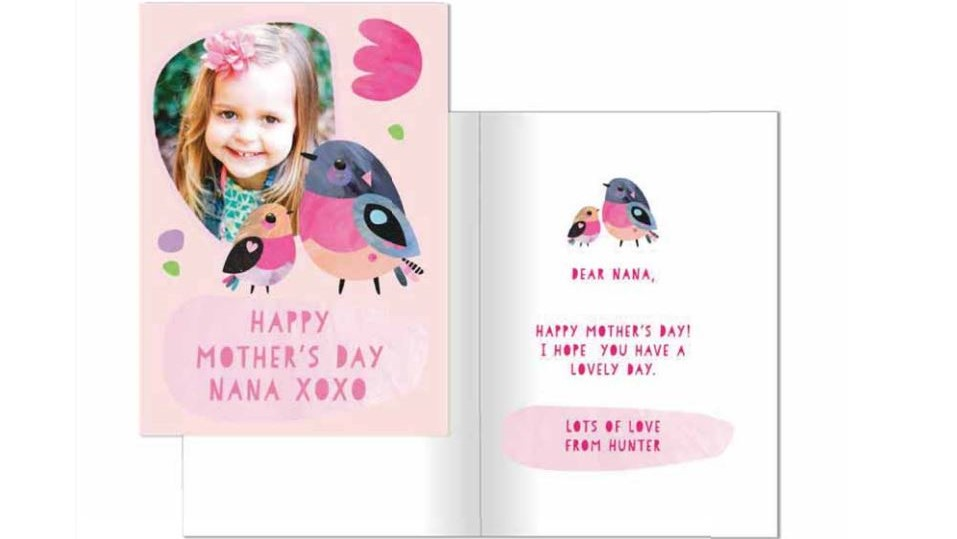 A picture of the SOY Mother's Day Card