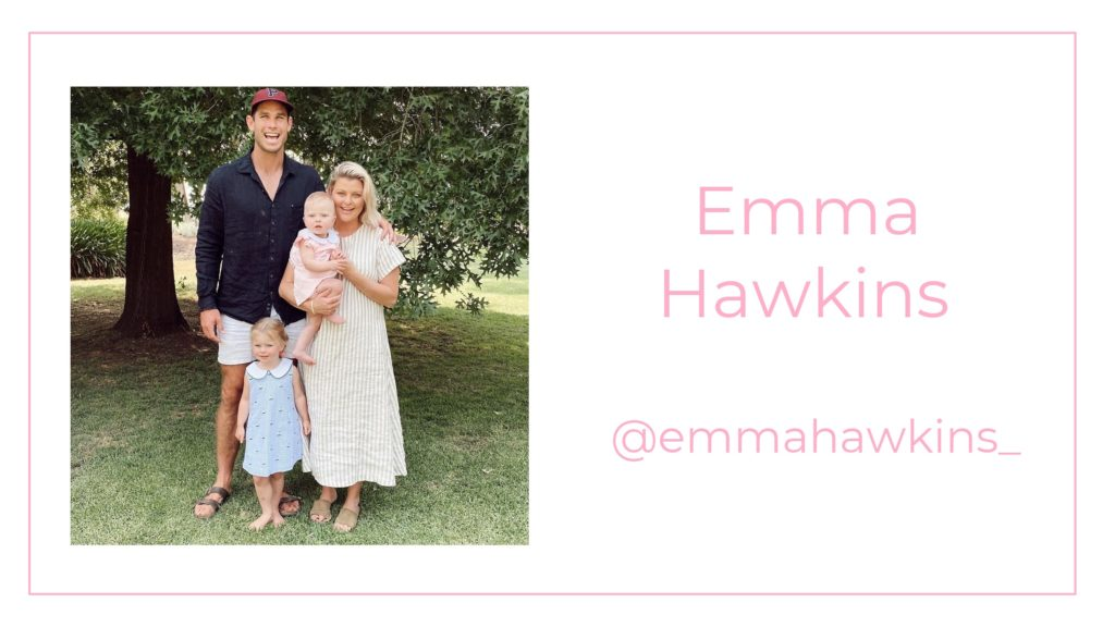 A picture of Emma Hawkins and her family