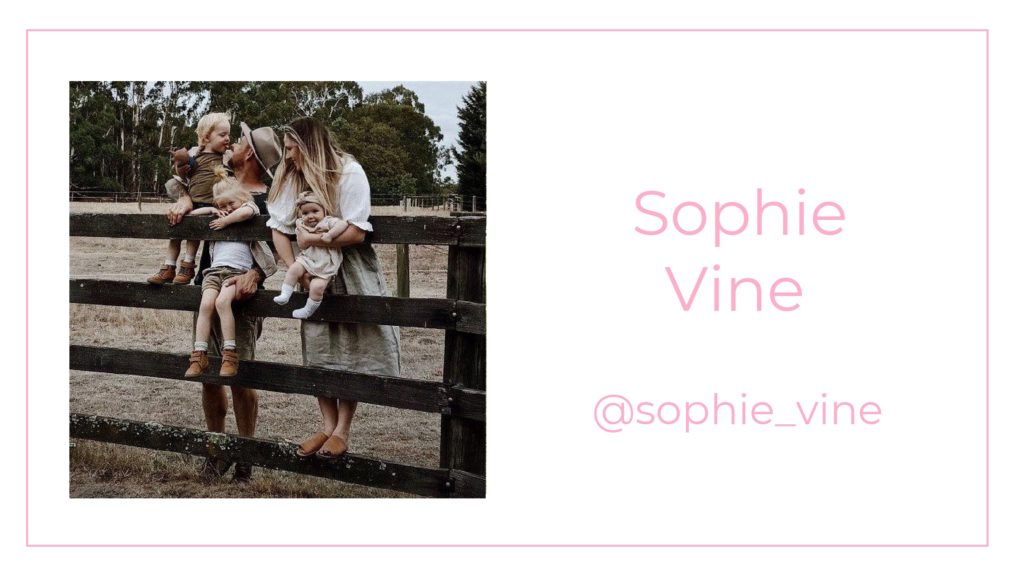 A picture of Sophie Vine and her family