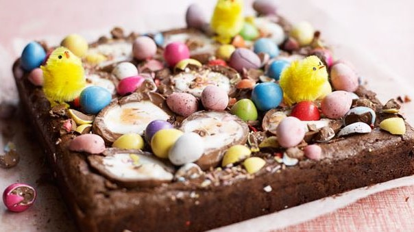 A picture of Easter brownies