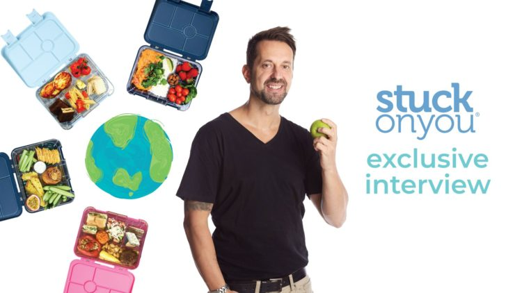 A picture of George Georgievski and his international Bentos