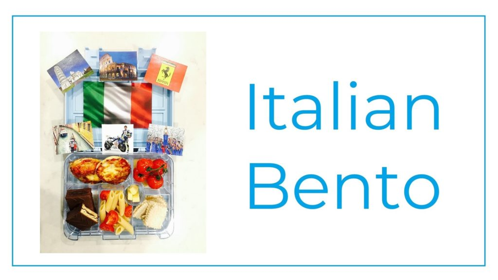 A picture of a Bento with Italian food