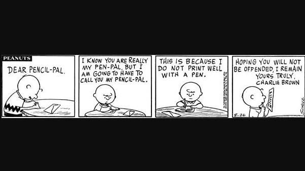 A picture of a 'Peanuts' comic strip