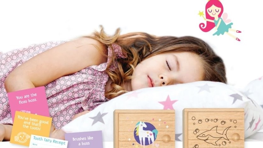 A picture of a young girl fast asleep waiting for the Tooth Fairy