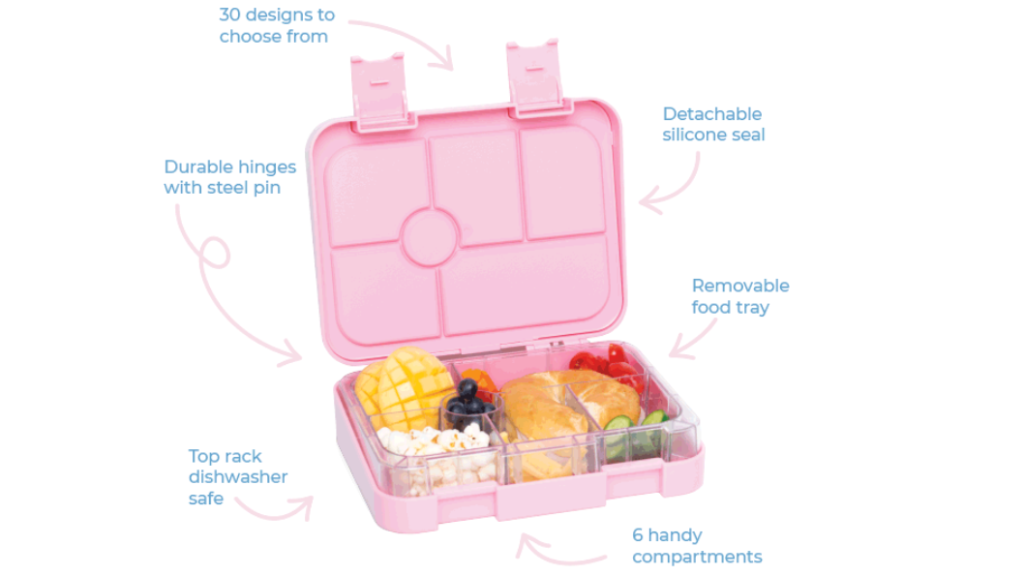 A picture outlining all the features of the Stuck On You Bento