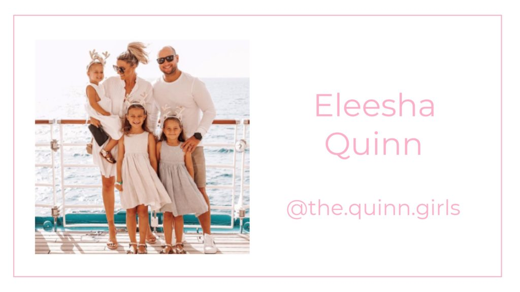 A picture of Eleesha Quinn and her family