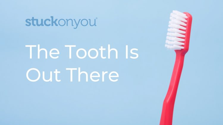 A picture of a tooth brush promoting the Tooth Fairy Box