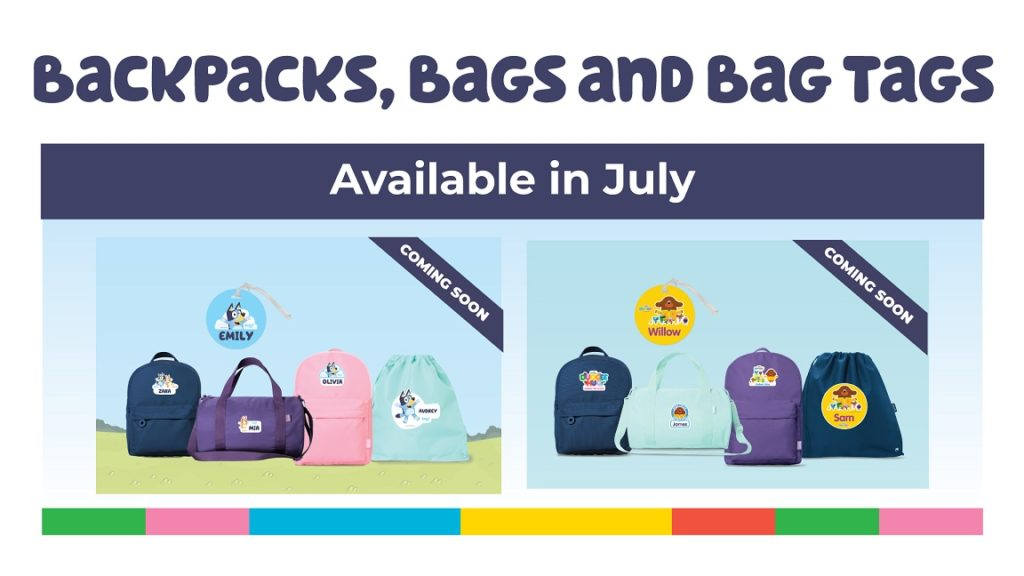 A picture of the BBC characters Bag Range