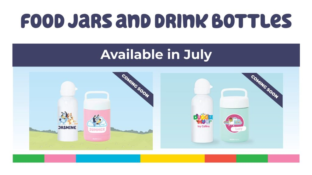 A picture of the BBC characters Food Jars and Drink Bottles