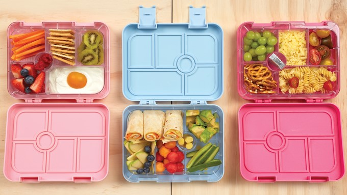 A picture of a three open SOY Bentos