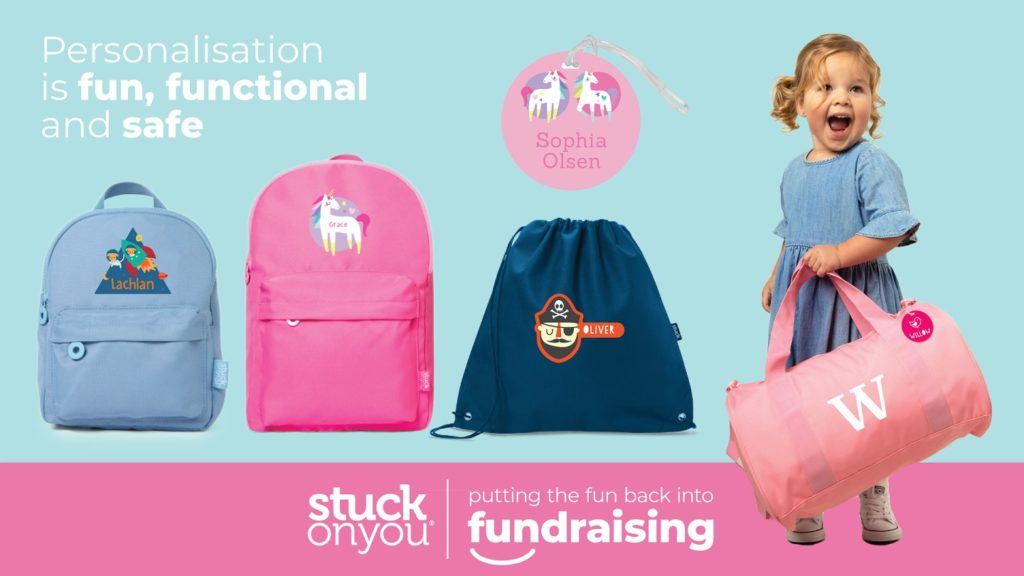A picture of bags for a Stuck On You fundraiser