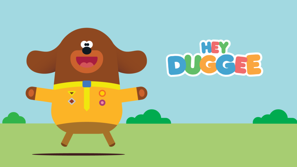 A picture of Duggee jumping