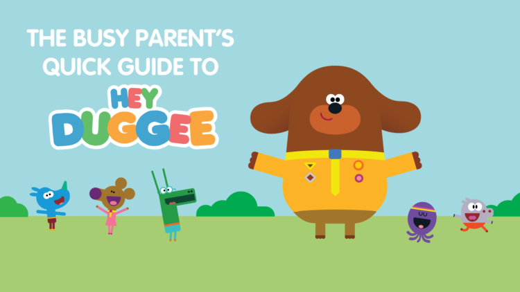A picture of the Hey Duggee characters for the Hey Duggee guide