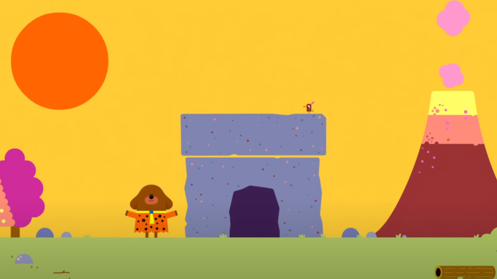 A picture of the Hey Duggee title for The Fossil Badge