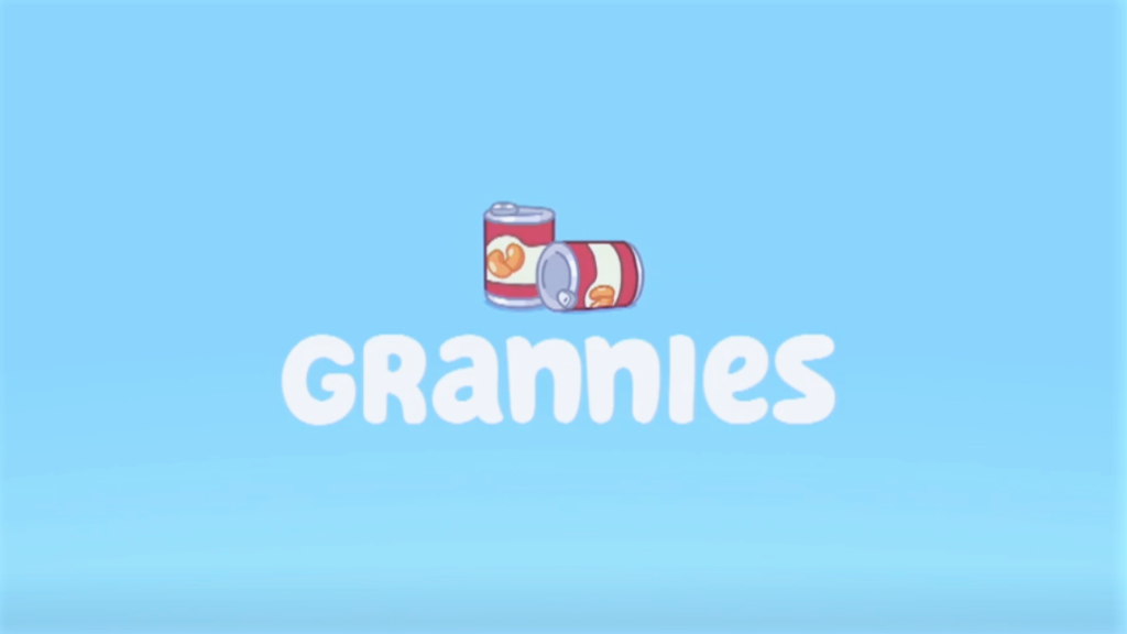 A picture of the Bluey title for Grannies