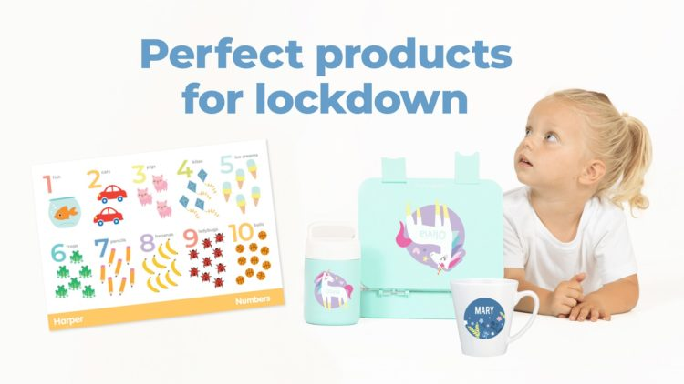 A picture of a child enjoying some essential lockdown products