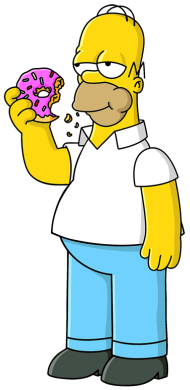 A picture of Homer Simpson, one of the best animated dads