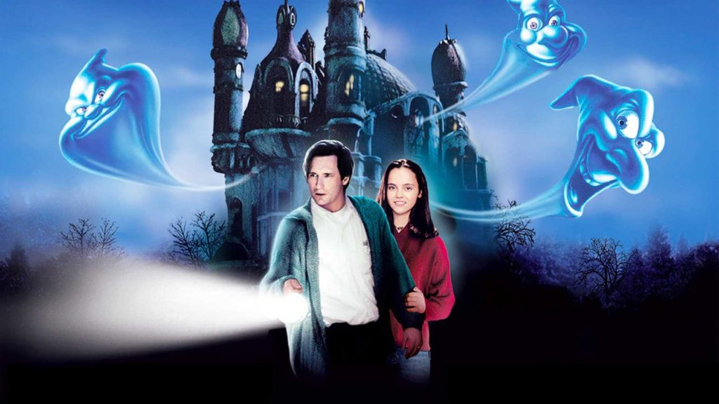 A picture from the film, Casper, a family-friendly Halloween movie