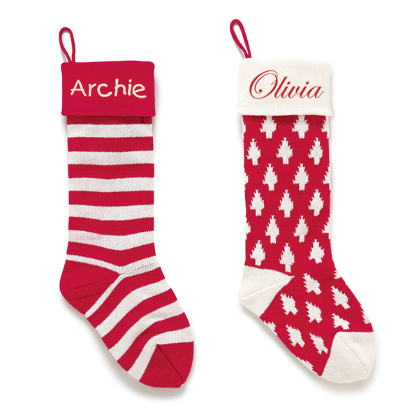 A Personalised Christmas Knitted Stocking is a welcome sight on Christmas morning. Our cotton knit stockings are available in a choice of two designs.
