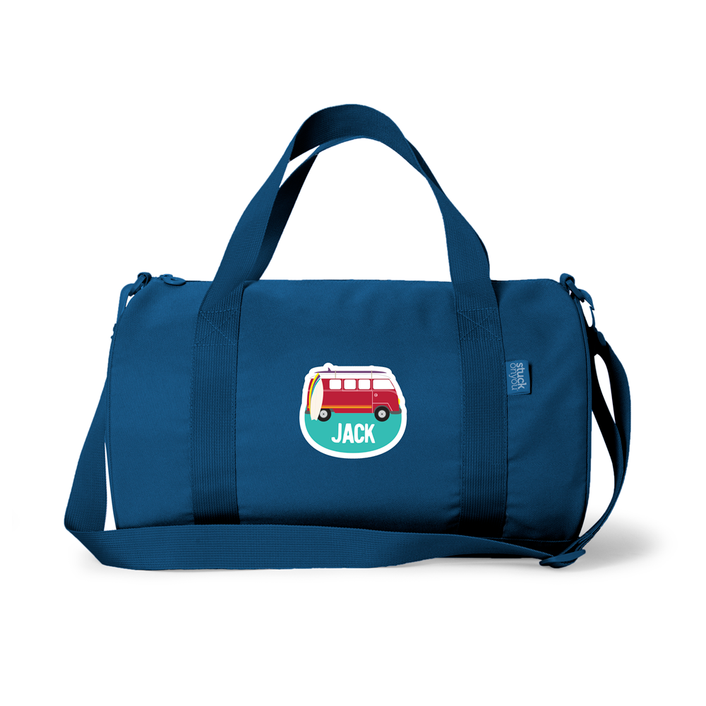 Our brand new duffel bag is the must have item for kids this year. A great quality bag made from soft poly canvas, choose from three colours in our new Gelati range - dusky blue, flamingo pink and seafoam green to really stand out in the crowd. Perfect for sleepovers, school camp, sports and even as a school bag, the duffel bag has a wide carry handle and wide shoulder straps for ease and comfort.