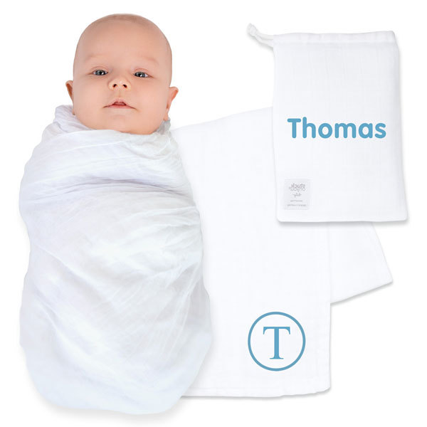 Wrap your baby in our beautiful new Muslin Wraps! Our new and incredibly soft baby wraps are created from 100% cotton and come with a bag made of the same material to carry your wrap.